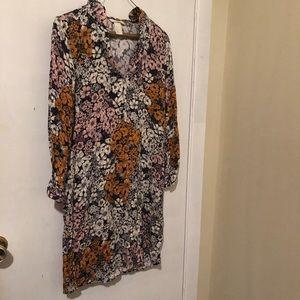 Rustic boho fall floral dress